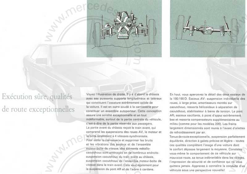 Catalogue de 1961 sur les Mercedes W110 190 & 190 D Catalo53