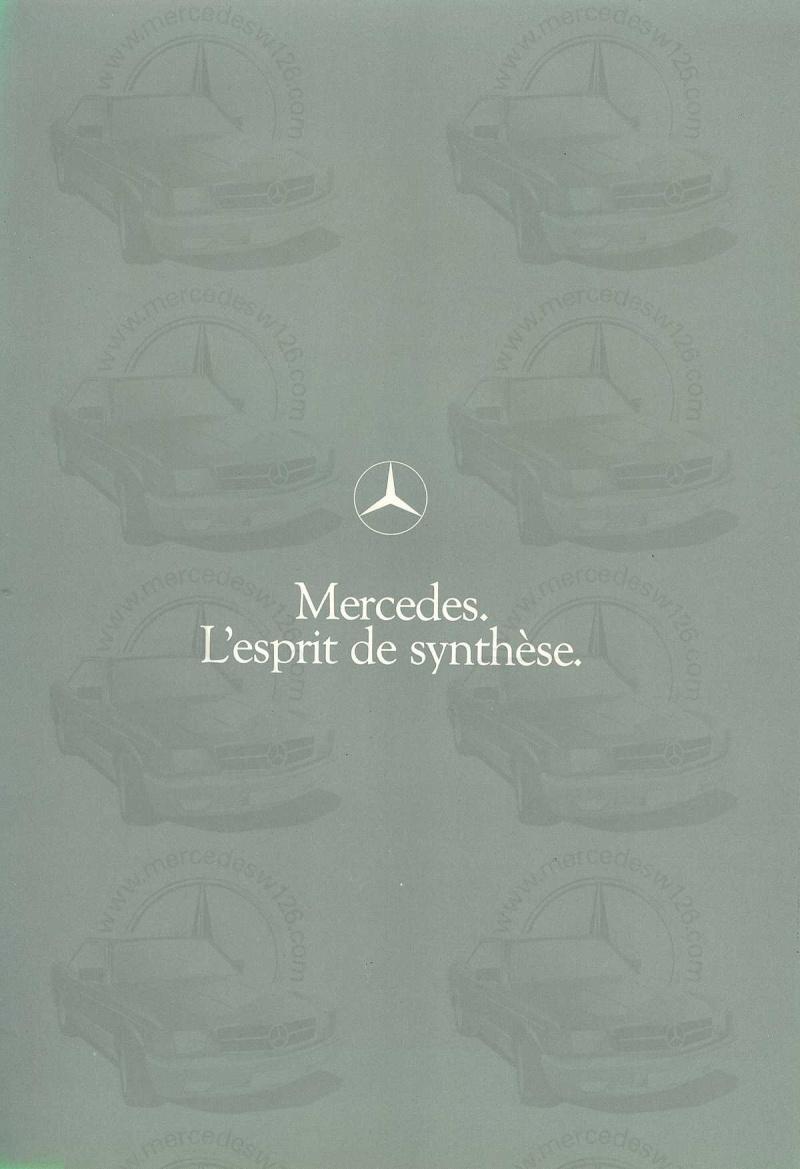 Mercedes, L'esprit de synthèse. (W123) Esprit10