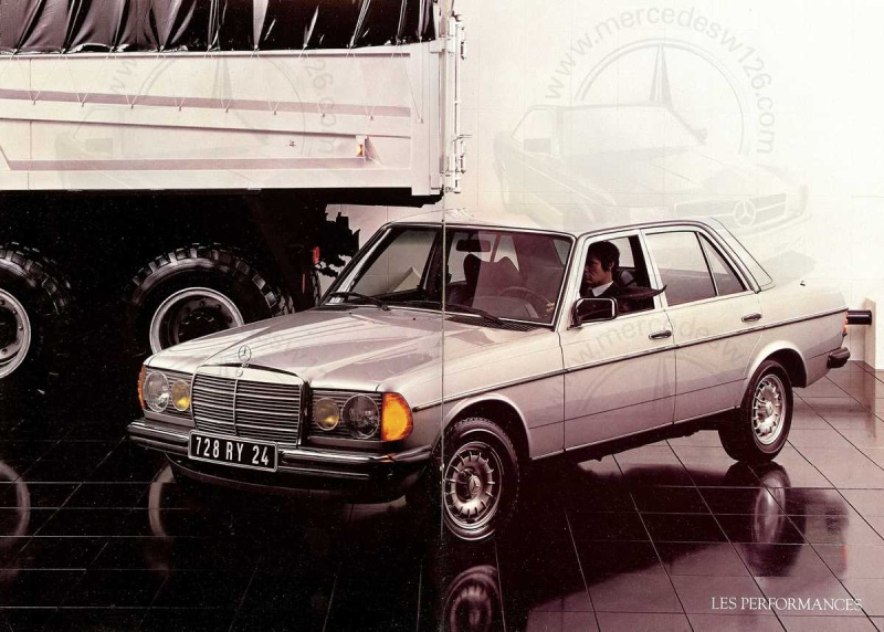 Mercedes, L'esprit de synthèse. (W123) Esprit11
