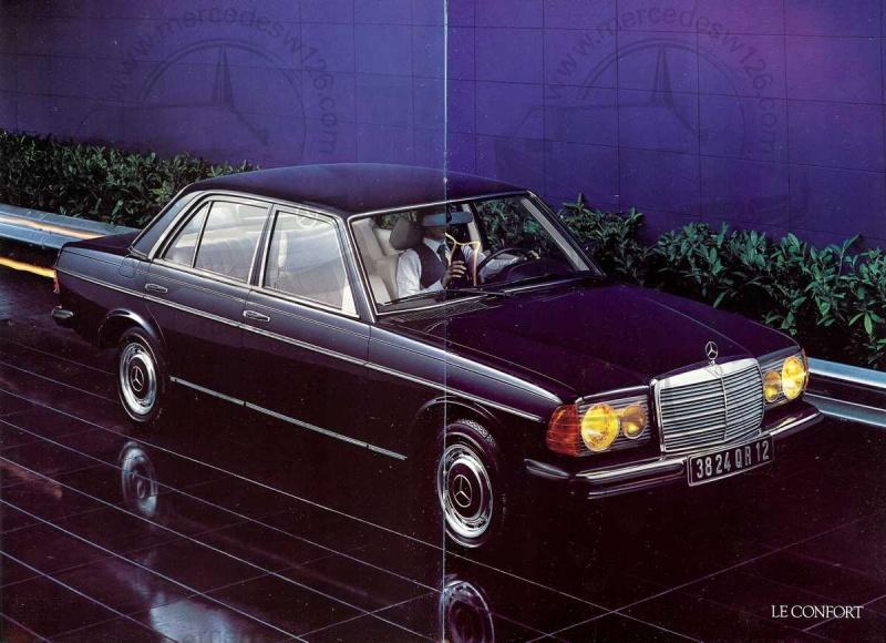 Mercedes, L'esprit de synthèse. (W123) Esprit12