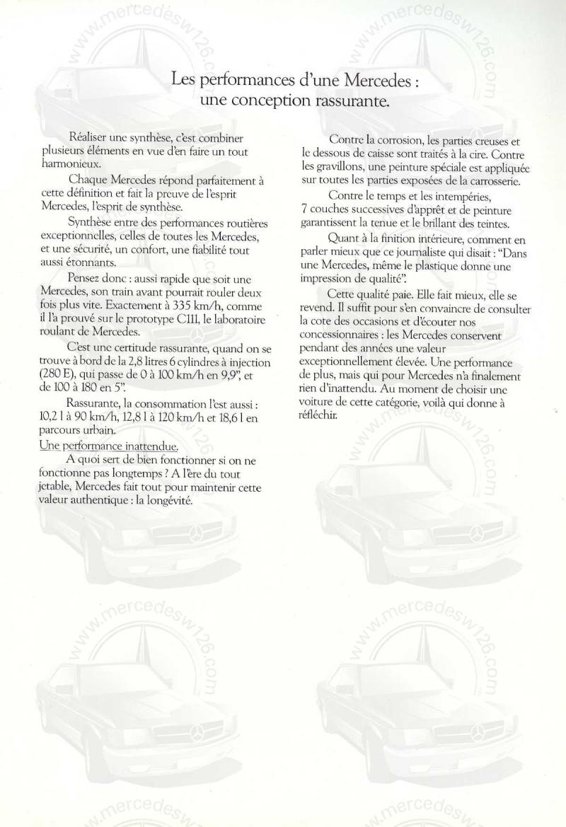 Mercedes, L'esprit de synthèse. (W123) Esprit13