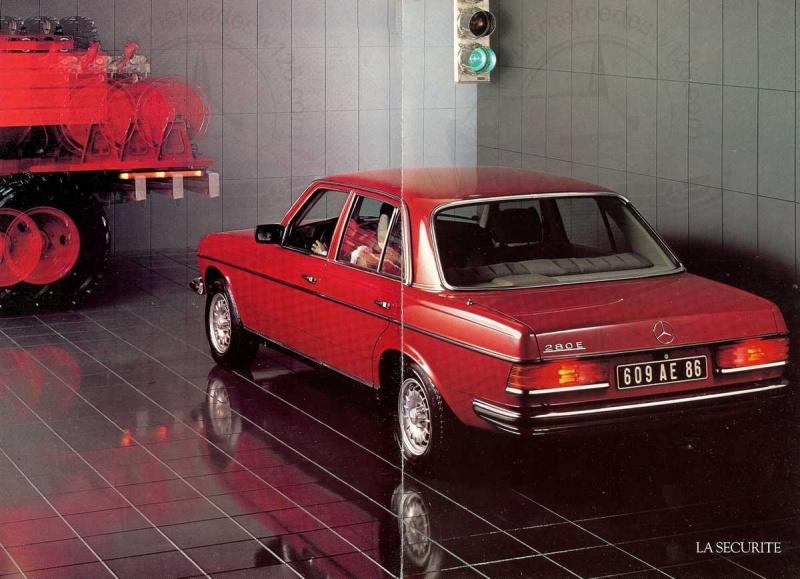 Mercedes, L'esprit de synthèse. (W123) Esprit14