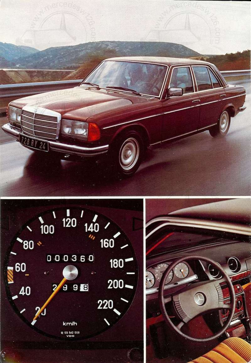 Mercedes, L'esprit de synthèse. (W123) Esprit15