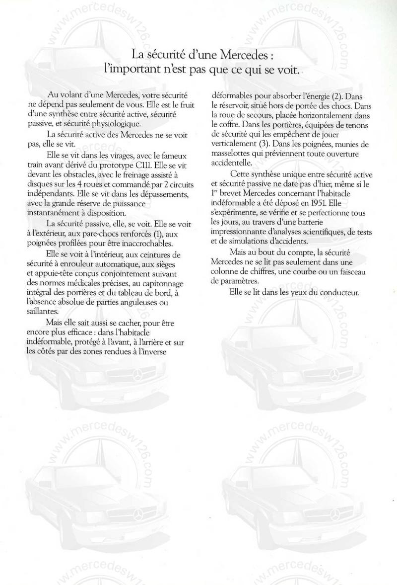 Mercedes, L'esprit de synthèse. (W123) Esprit17
