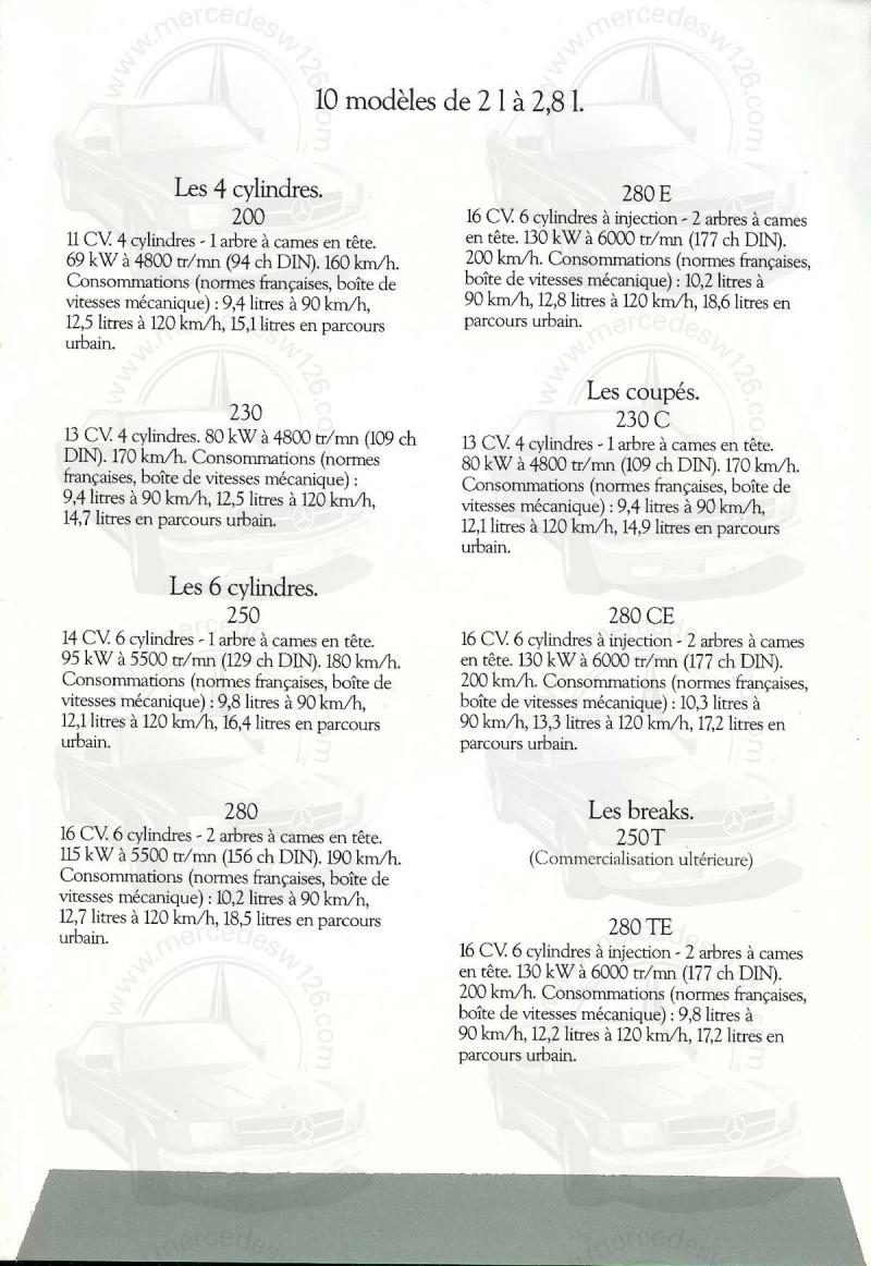 Mercedes, L'esprit de synthèse. (W123) Esprit19