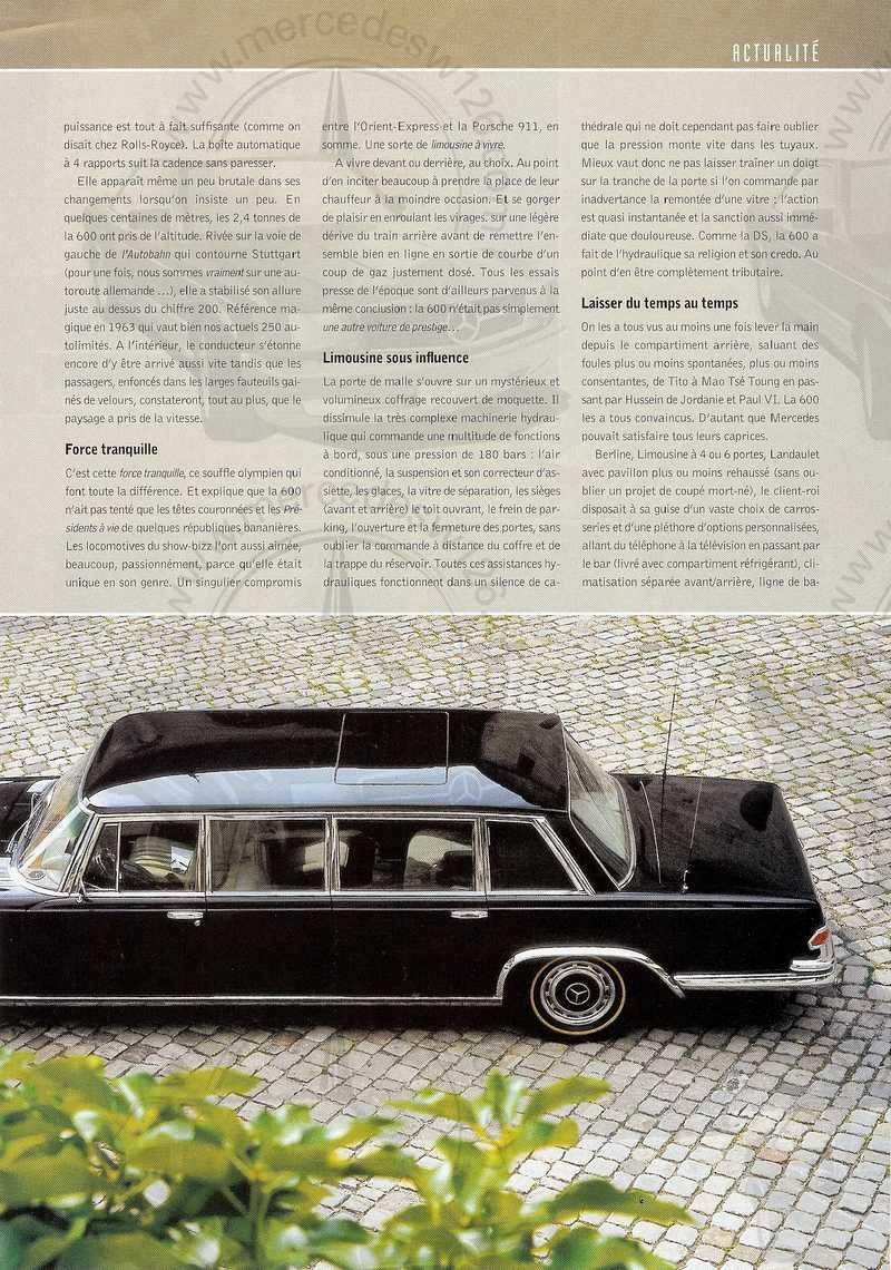 Rétroviseur 08/2003: Mercedes 600 Mb_60010