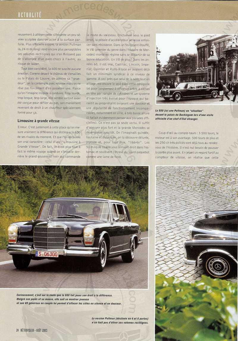 Rétroviseur 08/2003: Mercedes 600 Mb_60014