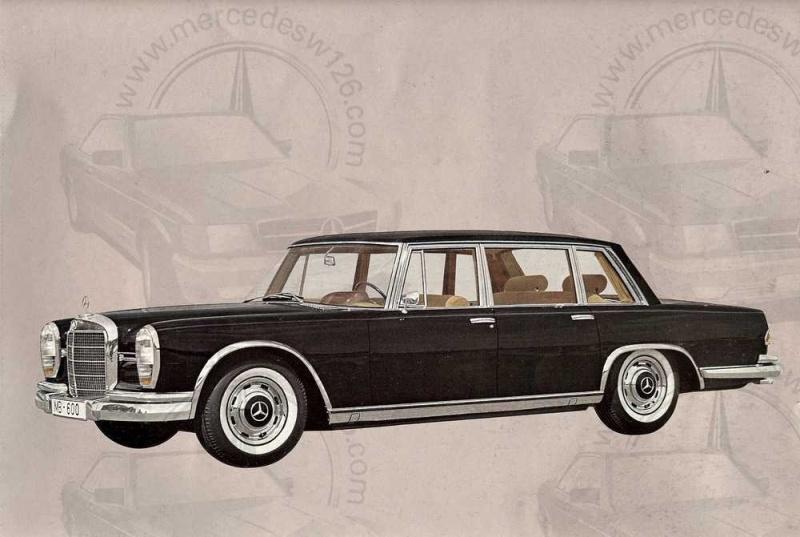 Catalogue de 1965 sur la Mercedes 600 W100 Merced13