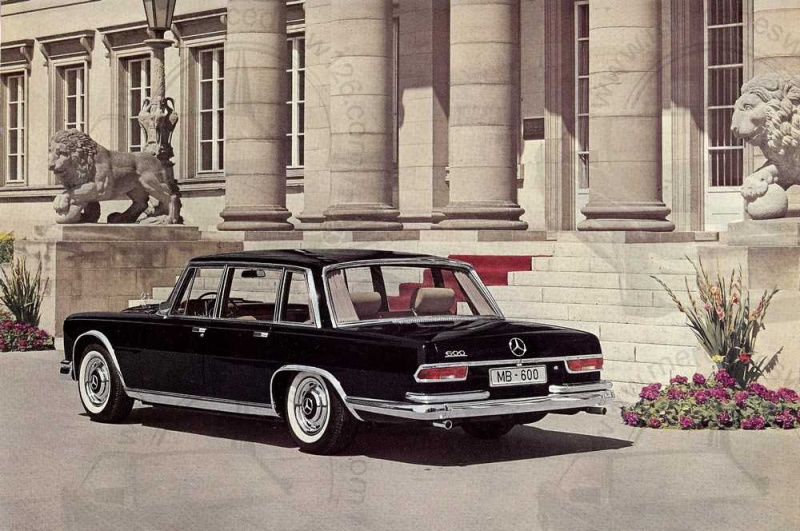Catalogue de 1965 sur la Mercedes 600 W100 Merced18