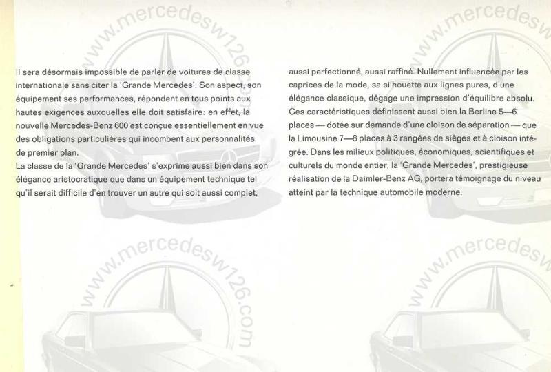 Catalogue de 1965 sur la Mercedes 600 W100 Merced19