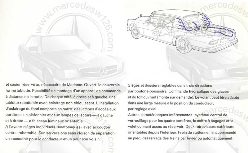 Catalogue de 1965 sur la Mercedes 600 W100 Merced21
