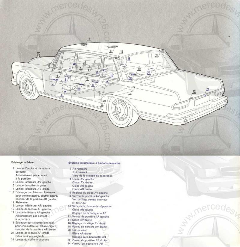 Catalogue de 1965 sur la Mercedes 600 W100 Merced22