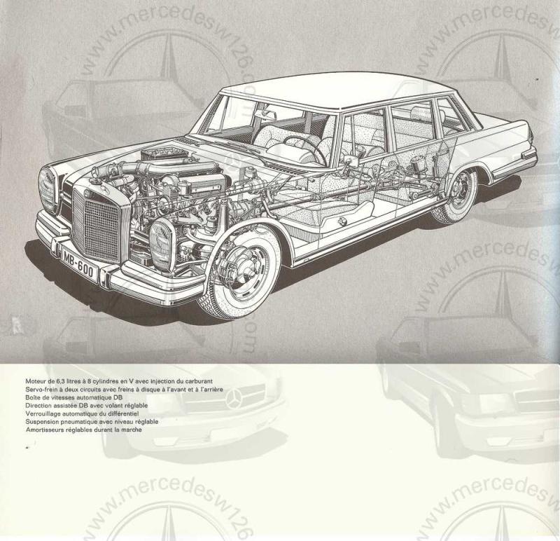 Catalogue de 1965 sur la Mercedes 600 W100 Merced25