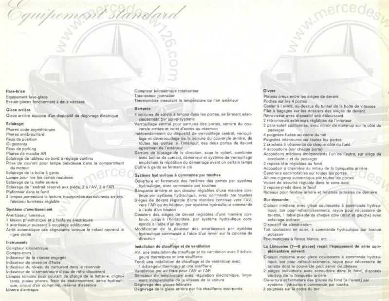 Catalogue de 1965 sur la Mercedes 600 W100 Merced27