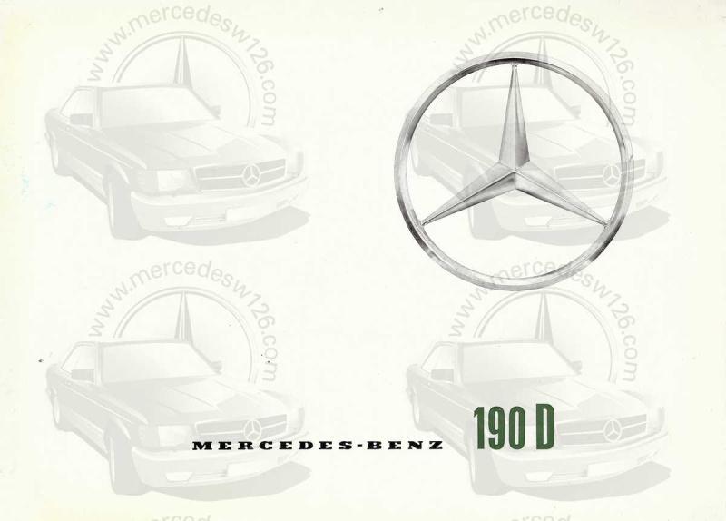 """Catalogue de 1959 sur la Mercedes w121 190 D """"Ponton"""" Ponton28"""