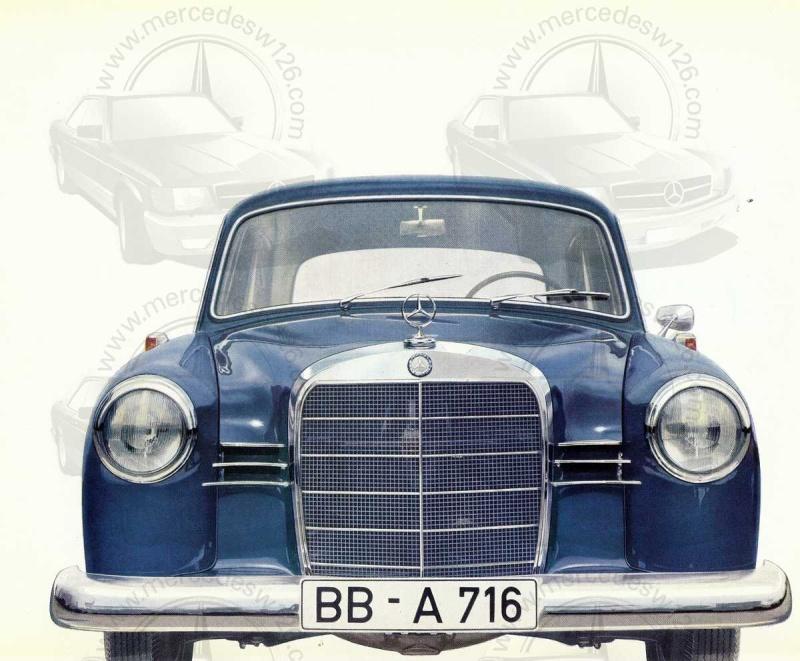 """Catalogue de 1959 sur la Mercedes w121 190 D """"Ponton"""" Ponton31"""
