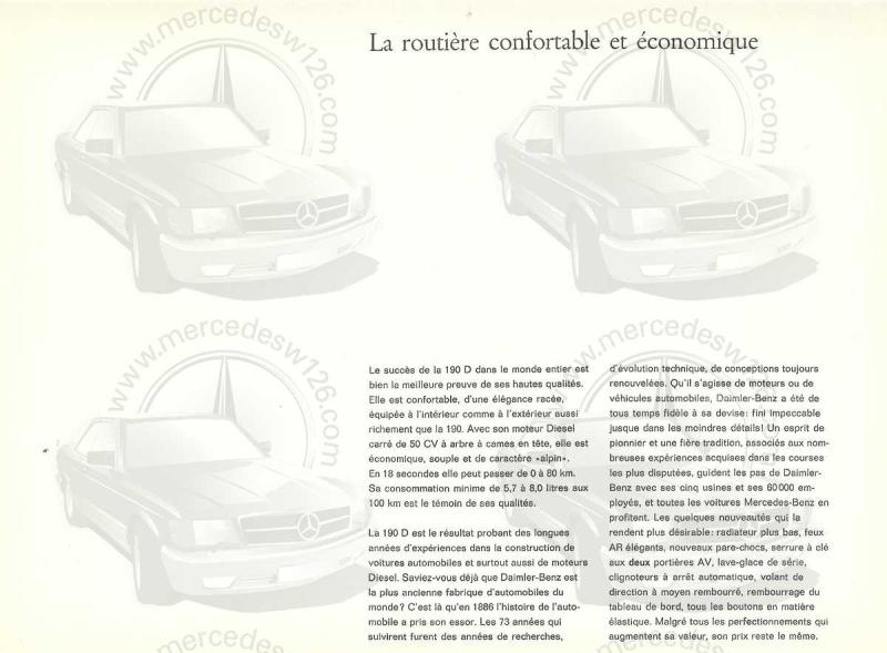 """Catalogue de 1959 sur la Mercedes w121 190 D """"Ponton"""" Ponton34"""