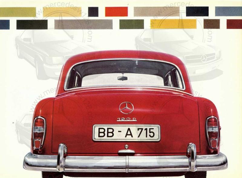 """Catalogue de 1959 sur la Mercedes w121 190 D """"Ponton"""" Ponton35"""