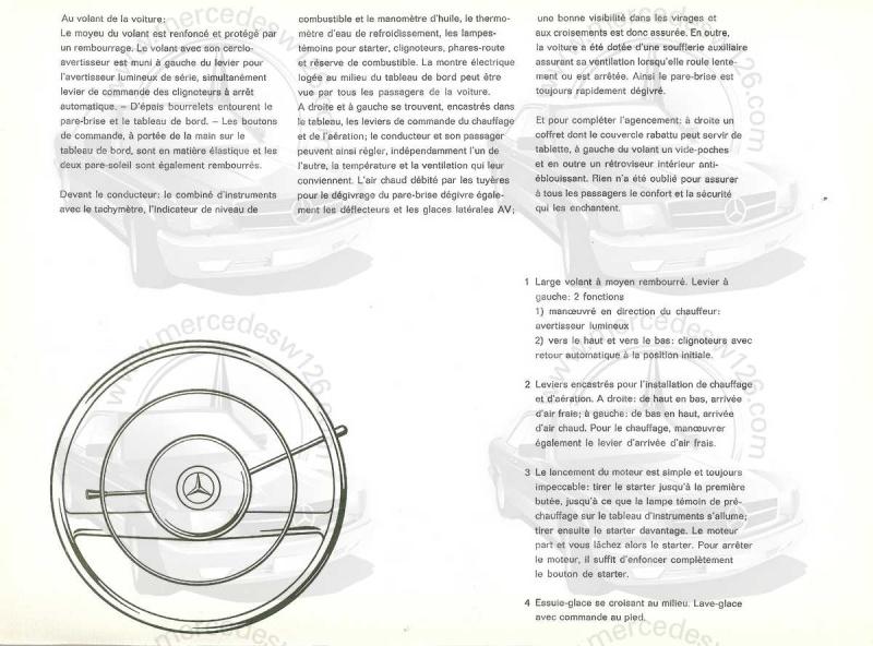 """Catalogue de 1959 sur la Mercedes w121 190 D """"Ponton"""" Ponton36"""