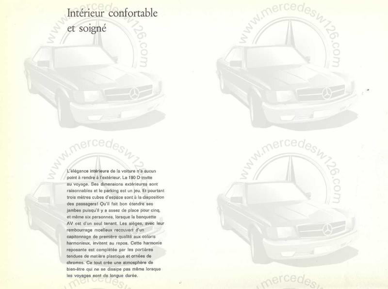 """Catalogue de 1959 sur la Mercedes w121 190 D """"Ponton"""" Ponton37"""