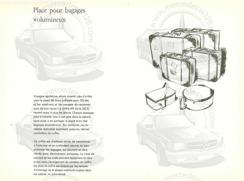 """Catalogue de 1959 sur la Mercedes w121 190 D """"Ponton"""" Ponton43"""