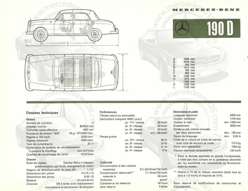 """Catalogue de 1959 sur la Mercedes w121 190 D """"Ponton"""" Ponton44"""