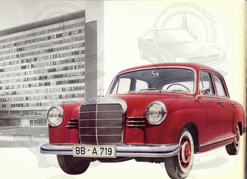 """Catalogue de 1959 sur la Mercedes w121 190 D """"Ponton"""" Ponton46"""