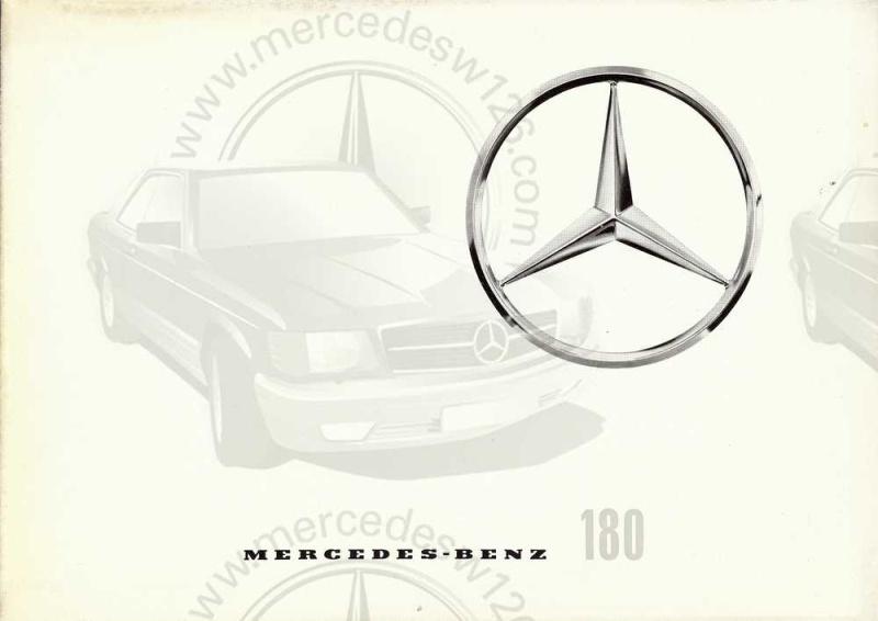 "Catalogue de 1961 sur la Mercedes W120 180 ""ponton""  Ponton48"
