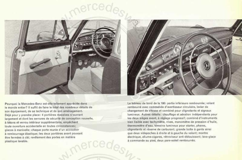 "Catalogue de 1961 sur la Mercedes W120 180 ""ponton""  Ponton49"