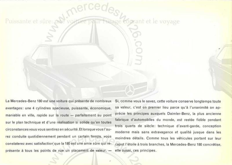 "Catalogue de 1961 sur la Mercedes W120 180 ""ponton""  Ponton50"
