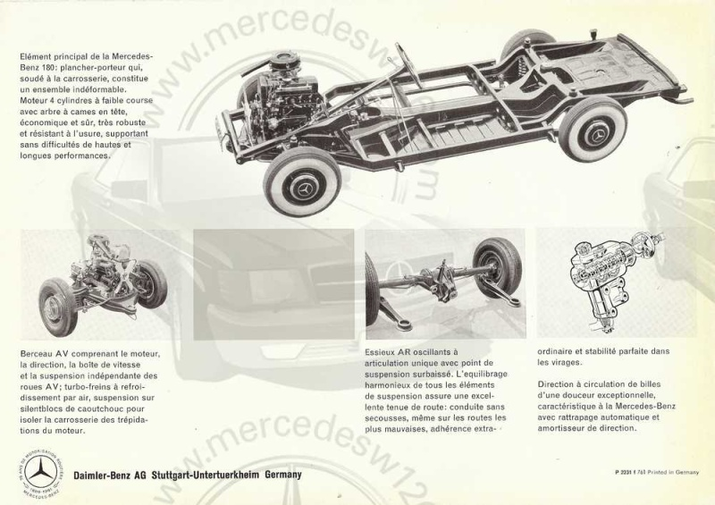 "Catalogue de 1961 sur la Mercedes W120 180 ""ponton""  Ponton51"