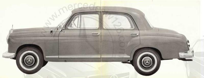 "Catalogue de 1961 sur la Mercedes W120 180 ""ponton""  Ponton52"
