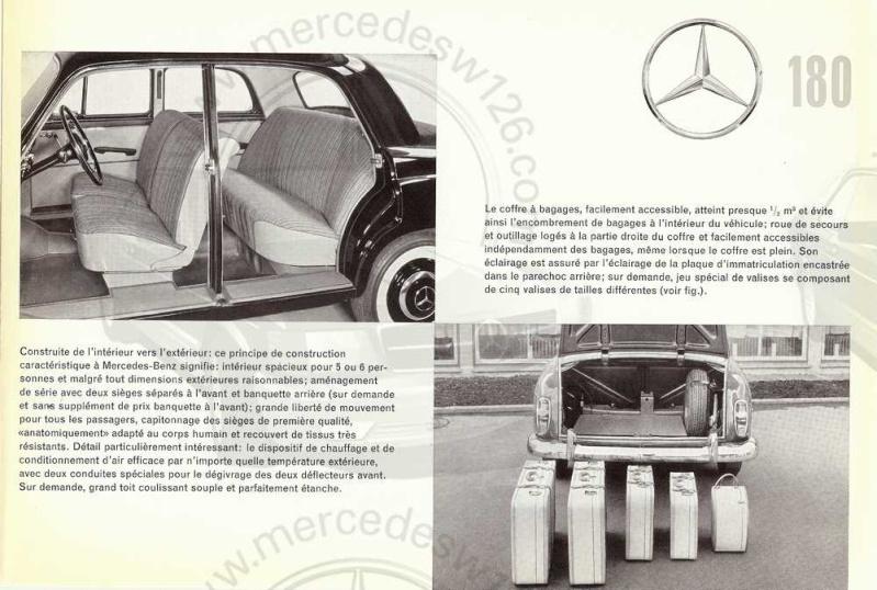 "Catalogue de 1961 sur la Mercedes W120 180 ""ponton""  Ponton53"