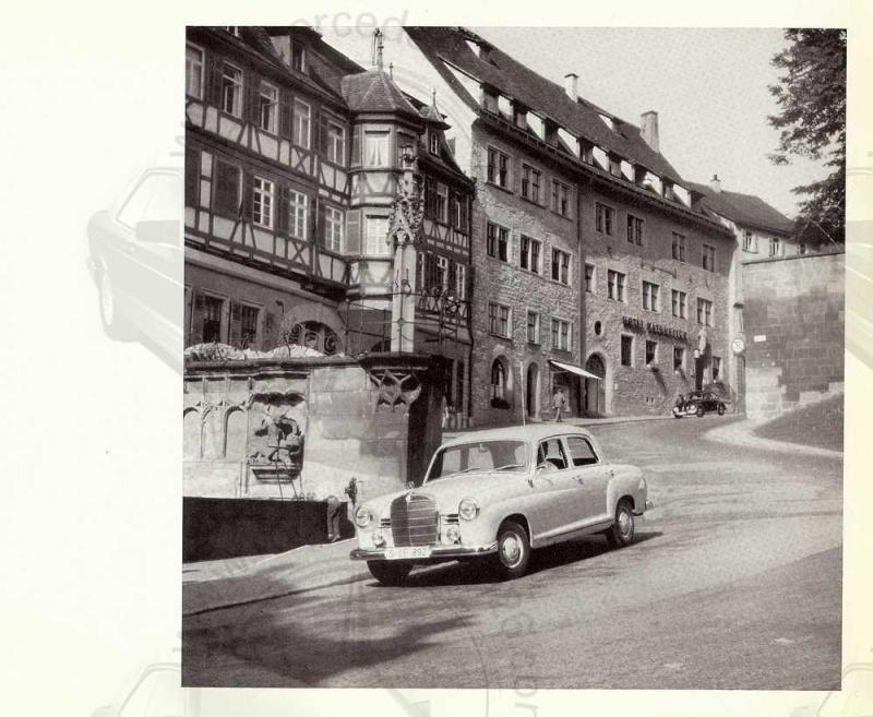 "Catalogue de 1961 sur la Mercedes W120 180 ""ponton""  Ponton55"