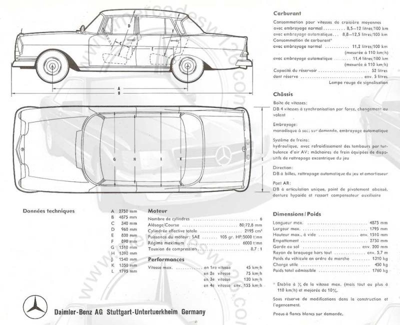 Prospectus de lancement de la Mercedes 220 W111 Prospe10