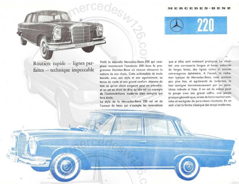 Prospectus de lancement de la Mercedes 220 W111 Prospe11