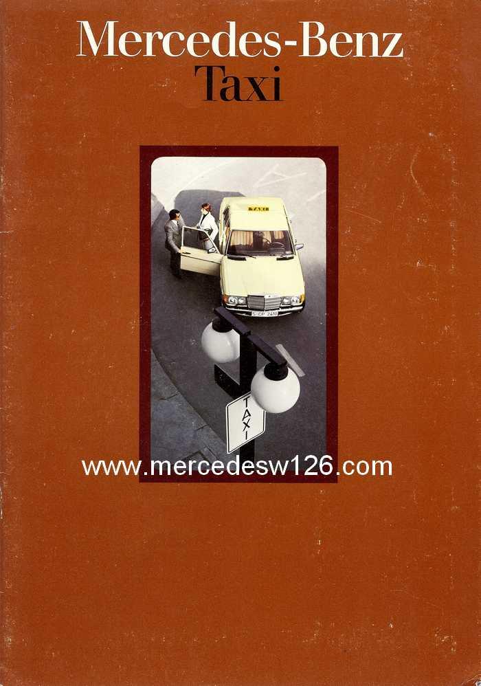 """Catalogue de 1976 sur la gamme """"taxi"""" Mercedes W123 Taxi_110"""