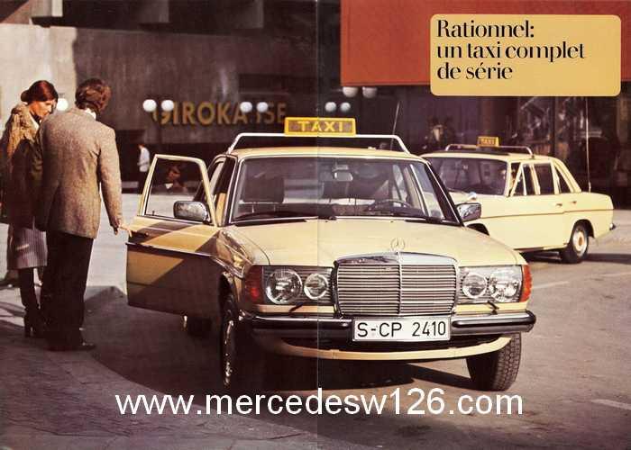 """Catalogue de 1976 sur la gamme """"taxi"""" Mercedes W123 Taxi_111"""