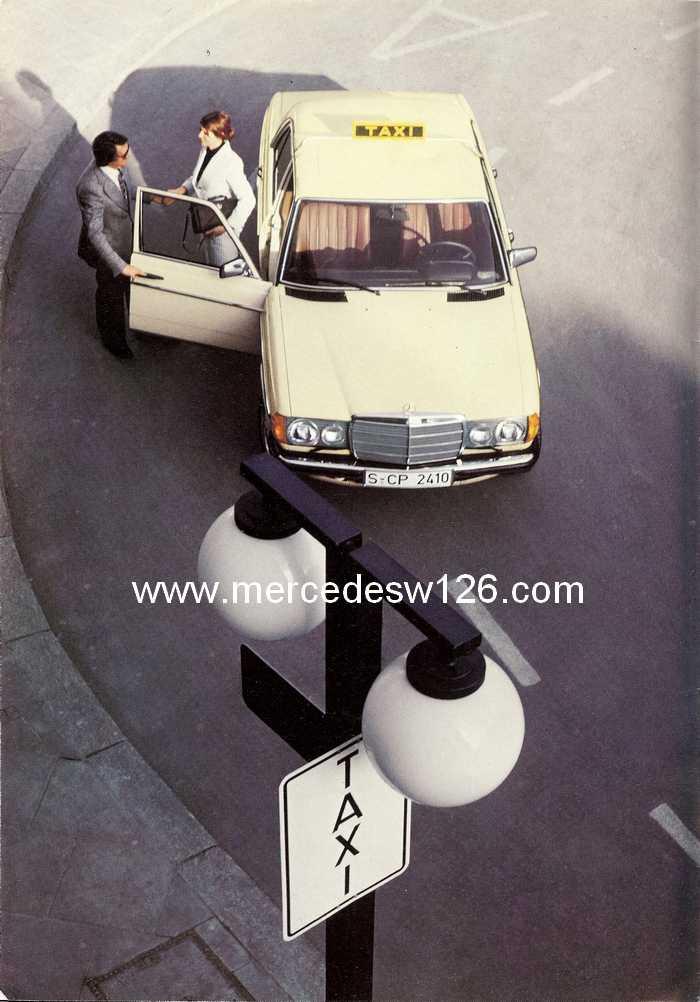 """Catalogue de 1976 sur la gamme """"taxi"""" Mercedes W123 Taxi_112"""