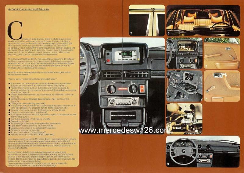 """Catalogue de 1976 sur la gamme """"taxi"""" Mercedes W123 Taxi_113"""