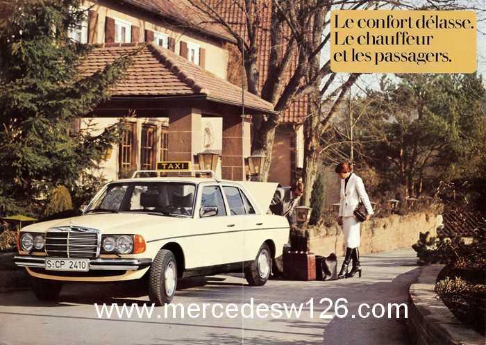 """Catalogue de 1976 sur la gamme """"taxi"""" Mercedes W123 Taxi_115"""