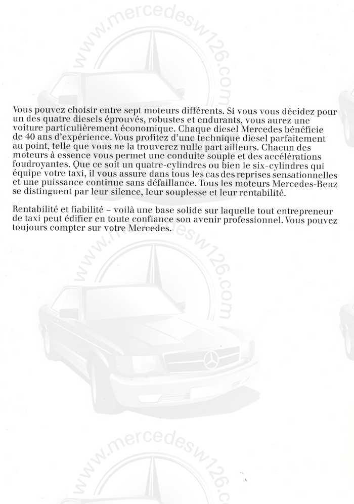 """Catalogue de 1976 sur la gamme """"taxi"""" Mercedes W123 Taxi_116"""