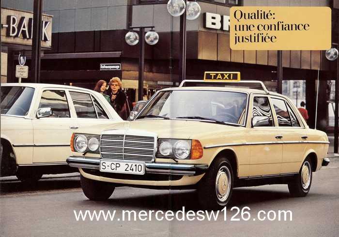 """Catalogue de 1976 sur la gamme """"taxi"""" Mercedes W123 Taxi_119"""