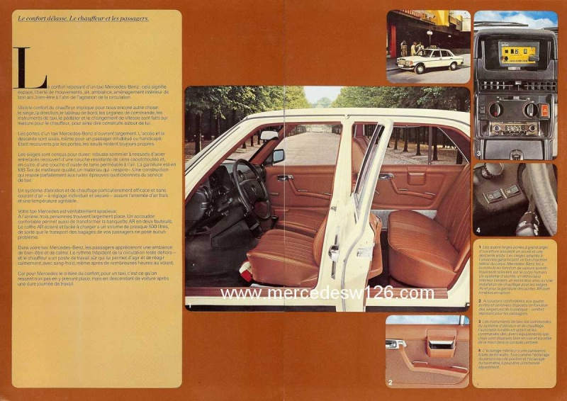"""Catalogue de 1976 sur la gamme """"taxi"""" Mercedes W123 Taxi_120"""