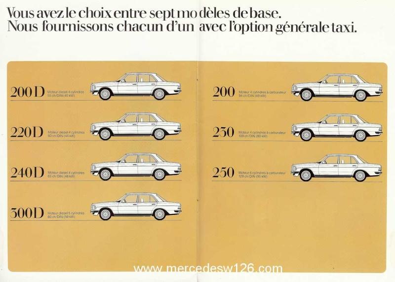 """Catalogue de 1976 sur la gamme """"taxi"""" Mercedes W123 Taxi_121"""