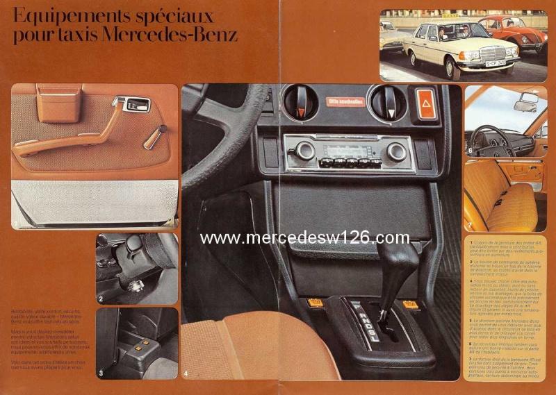 """Catalogue de 1976 sur la gamme """"taxi"""" Mercedes W123 Taxi_123"""
