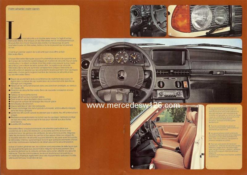 """Catalogue de 1976 sur la gamme """"taxi"""" Mercedes W123 Taxi_124"""