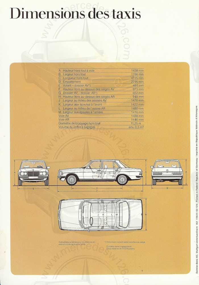 """Catalogue de 1976 sur la gamme """"taxi"""" Mercedes W123 Taxi_125"""