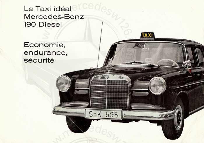 Brochure de 1963 sur les W110 190 D Taxi Taxi_p10