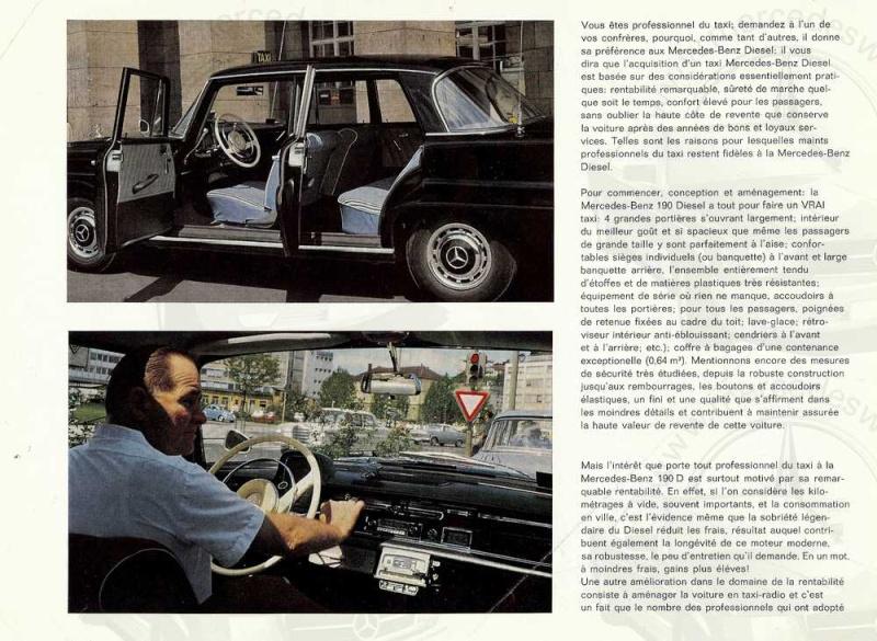 Brochure de 1963 sur les W110 190 D Taxi Taxi_p11